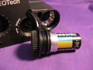 Eotech red dot sight battery