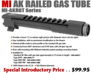 MI AK Railed Gas Tube
